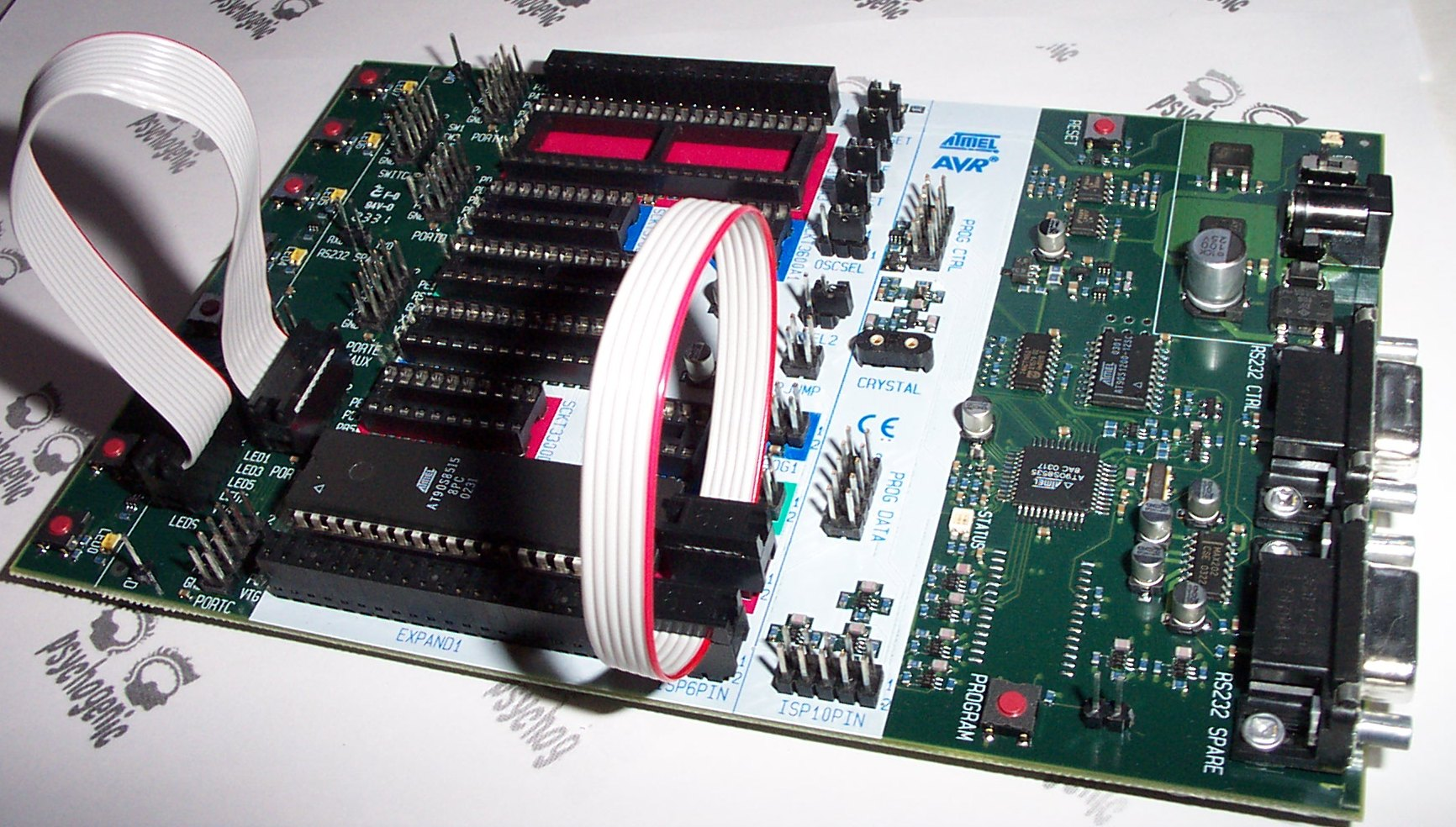 Developing For The Atmel Avr Microcontroller On Linux Standard Library 038 String Formatting Figure 3 Stk500 Development Kit