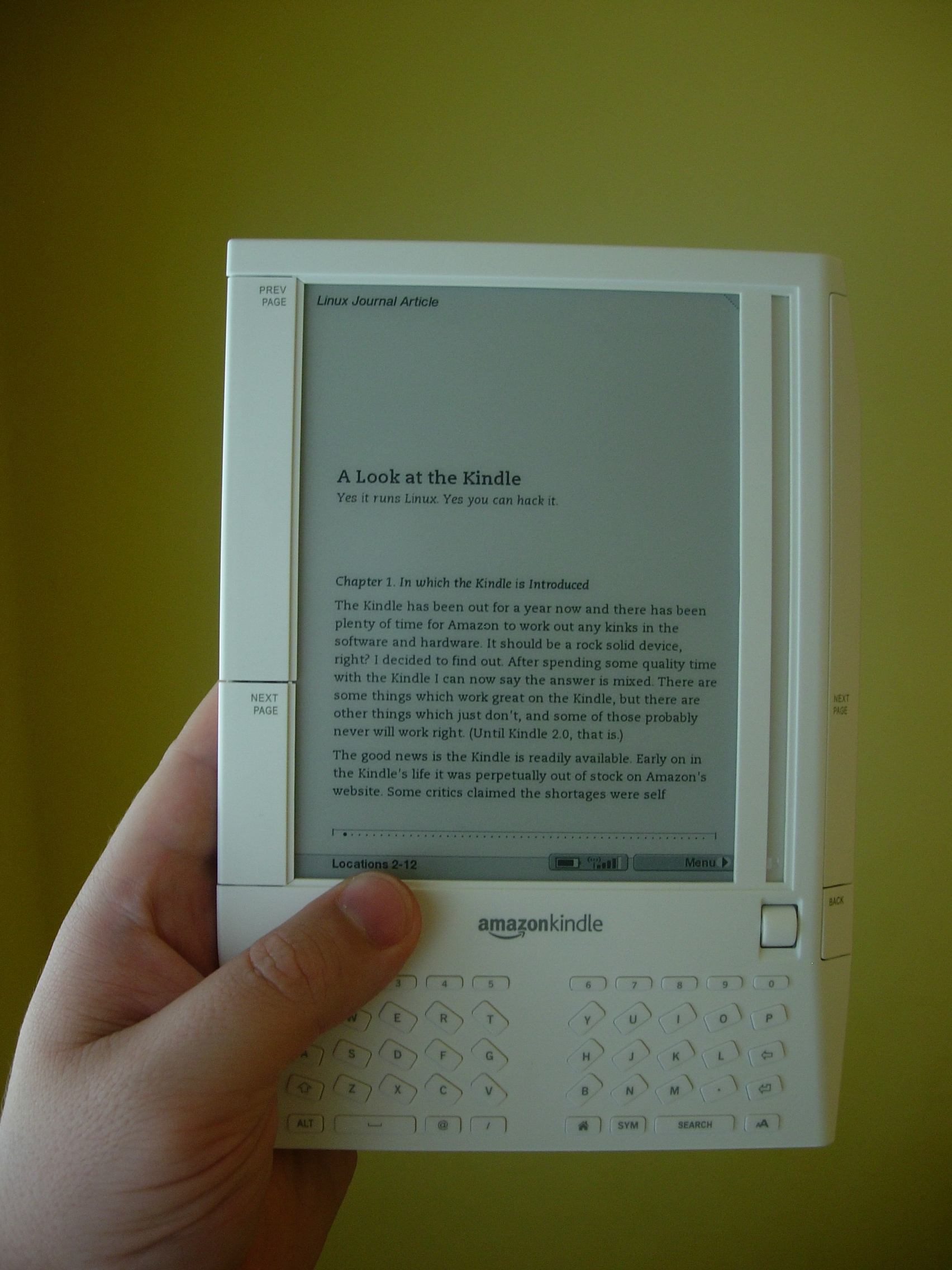 A Look at the Kindle