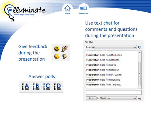 Sample of showing clear directions in a webinar