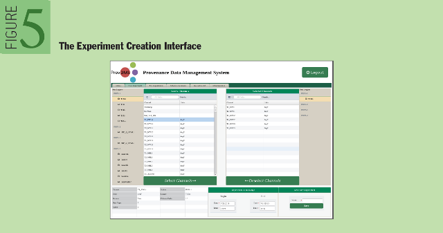 Provenance in Sensor Data Management: The Experiment Creation Interface
